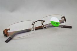 Wholesale New Fashion Women Men Memory Titanium Rimless Flexible Reading Glasses Diopter