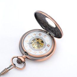 mens pocket watches online mens pocket watches for for copper tone mechanical fob watches for s 17 crystals movement hand wind up pocket watches many styles for mens