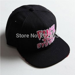 Wholesale 1pc Hot FUCK THE SYSTEM letters GD Dragon baseball cap for men snapback polo snapback flat caps men transporting cheap hats