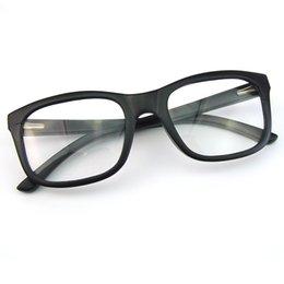 Wholesale New arrival laminated clear lens glasses black frame Optical frame glasses handmade wooden eyeglasses protection Optical lens C020