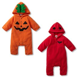 Wholesale halloween costumes baby costumes cotton pumpkin devil design hooded romper New EMS DC1048