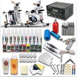 Wholesale 129pcs set Beginner Tattoo Machine Kit Complete Set of Tattoo Equipment tattoo Gun Colors Tattoo Ink Pigment