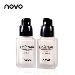 Wholesale NOVO Face Makeup Waterproof Brighten Concealer BB Cream Pink Or Silvery SPF35 PA Triple Functions Beauty g NO