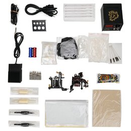 Wholesale Professional T02 Tattoo Gift Kit Machine Power Supply Pedal Needle Accessories Hot Selling