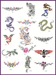 Wholesale Temporary Airbrush Tattoo Stencil Template Booklet of the Animals dragon and others designs