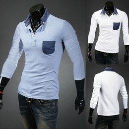 Wholesale 2015 winter new fashion brand men s lapel camisas masculinas polo casual Slim polo shirt men colors M XXL