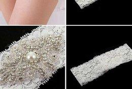 en el envío libre del cordón de las ligas de novia de marfil blanco atractivo barato 2015 con los granos cristalinos de la boda de Ligas de pierna Accesorios de novia
