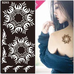 Wholesale Body painting glitter tattoo kit face painting airbrush Temporary Tattoo Henna Stencils Body Art for women wedding