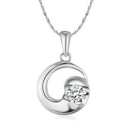 Wholesale Pure Sterling Silver with Platinum Plated Necklace Fashion Jewelry YY5778