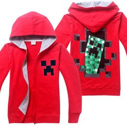 Wholesale 2015 Hot Sale Minecraft Coats Minecraft Hoodies Minecraft Youth Hoodies coat Minecraft Jacket