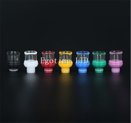 online shopping HOT Glass with Resin Drip Tips E cigarette Accessories Wide Bore Drip Tip EGO Atomizer for protank occ subtank e cigs Mods