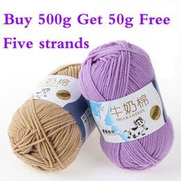 Wholesale 2015 New High Quality Vinylon milk Fiber Five Strands Baby Clothing Scarf Woolen Yarn g ball MM