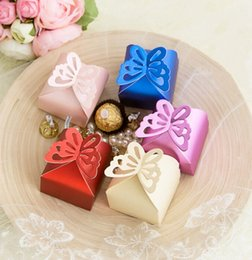 Wholesale Colorful Wedding Candy Boxes Wedding Ceremony Favors Favor Holders Gift box Candy Bag Pairs