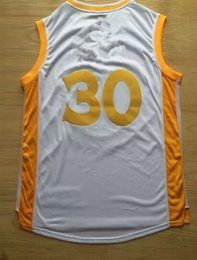 2015 New Basketball Jerseys #30 Champions Jersey Gold Color Size S-XXL Stitched Mix Match Order All New Jerseys