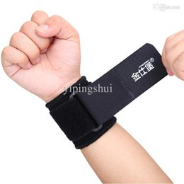 Wholesale Exercise the wrist brace basketball weight lifting wrist straps adjust fort jinshi pressurized badminton