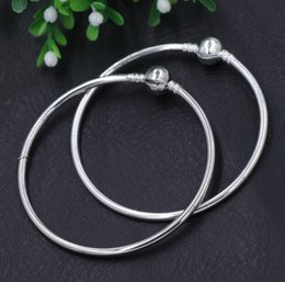 Wholesale New Silver Gold Plated Vogue SP Pandora Bangle Bracelets Fit European Charm Beads chains Jewelry DIY