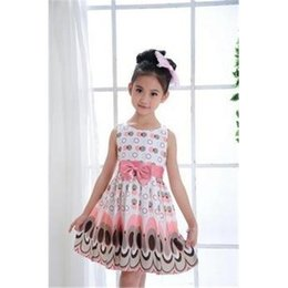 Wholesale Kids Girls Dress cute peacock color sleeveless princess dress circle Korean Fashion children s New clothes