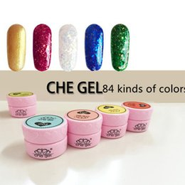 Wholesale 84 kinds of colors gel nail set colored drawing uv colour gel D LED Nail UV Gel For Nail Art Tips Decoration Creative Tools