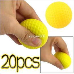 Lumière intérieure Outdoor Training Practice Golf Sport élastique PU balle en mousse 20pcs / lot # 22611