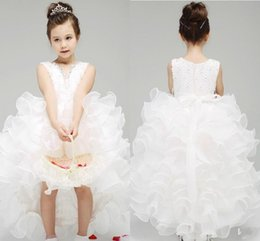 V back white dress hi lo