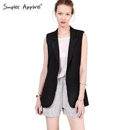 Wholesale FG1509 New Arrival Women suit jacket coat Sleeveless long women business suits Black casual vests jaqueta feminina plus size