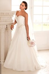 Wholesale Elegant Chiffon Grecian Style A Line Wedding Dresses Beads Sweetheart Ruched Skirt Dresses Sexy Backless Bridal wedding Gowns under