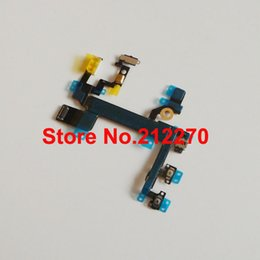 New Power Mute Volume Button Switch Connector Flex Cable Ribbon For iPhone 5S 50pcs/lot Wholesale