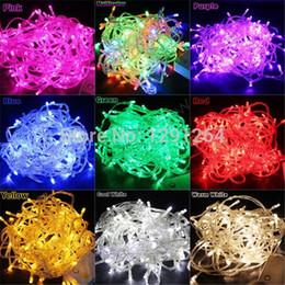 Wholesale-RGB Christmas String Lights 10M 100 LED RGB Sting Party Decoration  Fairy Light Waterproof 220V with US UK EU