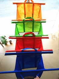Wholesale Large Size in1 Shopping Grocery Bag For Supermarket Trolleys Carrier Bag Shopping Bag Reusable Trolleys Folding Shopping Bag DHL Free