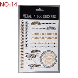 Wholesale silver and gold foil tattoo flash temporary tatoo artificial tattoos