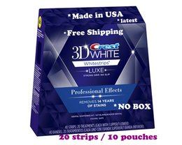 Wholesale 2015 newest Crest D White Whitestrips Professional Effects White Whitening Teeth Strips Strips Pouch Box