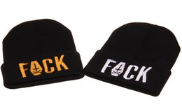Wholesale 2015 FUCK Letters Beanie Cross Sword Beanies Hats Hip Hop wool winter Cotton knitted warm caps Snapback hat for man and women