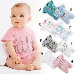 Wholesale Baby One Piece Romper short sleeved Romper color Korean jumpsuits rompers infant cotton climbing clothes
