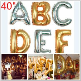discount large gold letter balloons wholesale hot 40 inch letter balloons jumbo mylar baloes
