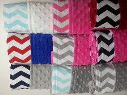 Wholesale minky dot fabric home use hot pink minky blanket made in china knitted minky baby blanket