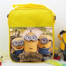 Wholesale Minions Despicable Me Shoulder Bags Backpacks Cartoon Minion Canvas Satchel phone Bag Child Kids Boys Girls Schoolbag DHL