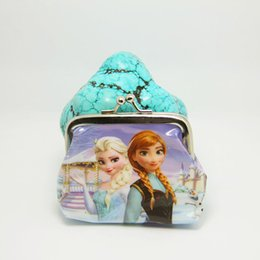 Wholesale Xmas Gift In Stock Frozen Children Purse Mama Baby Coin Bags Kids Frozen Coin Purse Random Style New Arrival Free Ship