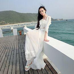 Wholesale 2015 Summer Fashion Sexy New Women Ladies Boho Long Maxi Beach Chiffon Dress Free Size