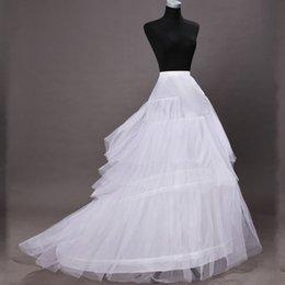 Wholesale White Hoop Bridal Petticoat Wedding Crinoline Skirts Elastic Waist Slips For Bridal Gowns Bustle Underneath Ball Gown Wedding Dresses