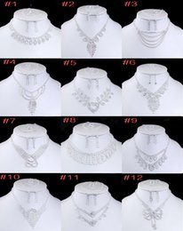 Wholesale Luxury Bridal Jewelry Set For Women Ladies Romantic Wedding Acrylic Necklace Earrings Ring Bracelet Accessories