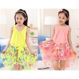Wholesale Children s clothing Summer New girl Korean Chiffon Princess Dress