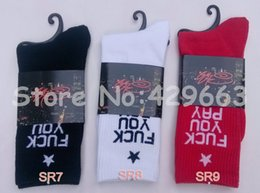 Wholesale New fashion pairs fuck you pay me hiphop skateboard fixed gear sport casual long sock men women brand hot sale high quality socks