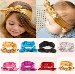 Wholesale 20 NEW Cute Baby Girls Toddler Stretch Ear Turban Knot Hairband Rabbit Bow Headband