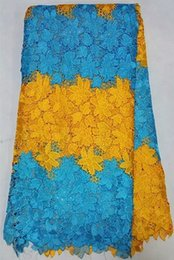 Wholesale 120cm Width Multicolor Guipure African cord lace fabric Polyester Nigerian Lace fabric