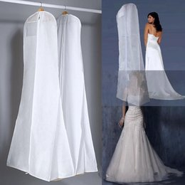 Wholesale 2015 All White No Logo Cheapest Wedding Dress Gown Bag Garment Cover Travel Storage Dust Covers Bridal Accessories For Bride