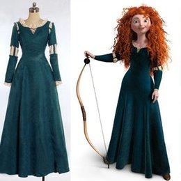 Wholesale Brave Princess Merida Cosplay Costume