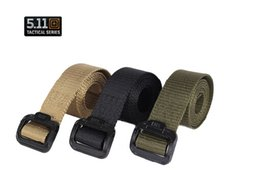 Wholesale New arrival hot sale outdoor tactical belt In the thick belt The fashion leisure TDU canvas belt nylon belt