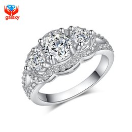 galaxy 100 925 sterling silver wedding rings for women top quality cubic zircon diamond engagement ring woman jewelry zr091 - Wedding Rings On Sale