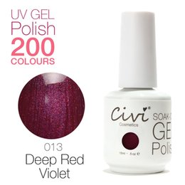 Wholesale Civi Nail Gel UV Gorgeous Colors The Best soak off UV Nail Gel Polish Deep Red Violet
