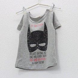 Wholesale children summer leisure clothing boy baby batman short sleeve t shirt kids tops tees
